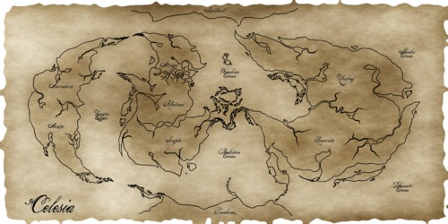 World map of Celesia
